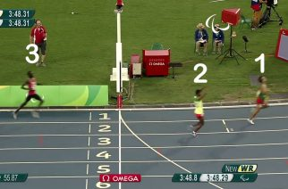 4 visually impaired Paralympians finished the 1500m final with times that would have won Olympic gold